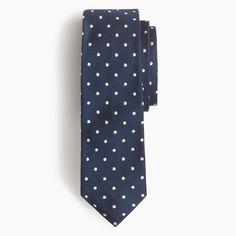 Italian silk repp tie in dot