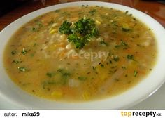 Jednoduchá polévka s tarhoňou recept - TopRecepty.cz What To Cook, Bon Appetit, Cheeseburger Chowder, Thai Red Curry, Soup, Treats, Cooking, Ethnic Recipes, Design