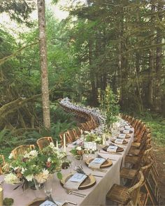 20 Woodland & Forest Wedding Reception Ideas is part of Forest wedding reception - tps header] Woodland weddings are amazing I really smell the forest aromas and hear the birds when I think of such a ceremony! Forest Wedding Reception, Magical Wedding, Woodland Wedding, Wedding Table, Rustic Wedding, Wedding Venues, Wedding Day, Wedding Shoes, Woodland Forest