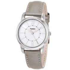 Such an affordable gift only $26! Get one for your mom and one for yourself! Love this neutral go with everything color scheme. Timex T2N683 Womens Elevated Classics Dress White Dial Stainless Steel Silver Metallic Leather Strap Watch