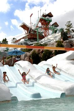 Blizzard Beach waterpark would be a great place to bring my Neve Sunshine Weekender, and at least it is designed to look like a ski resort!