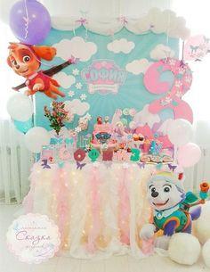 Decoracion para fiesta de los paw patrol para niñas (3)