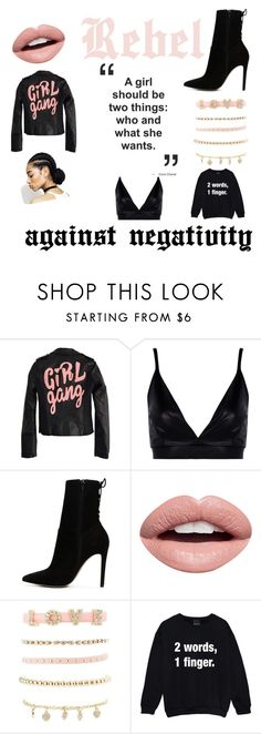 """""""no negativity"""" by kishaniya ❤ liked on Polyvore featuring High Heels Suicide, Boohoo, ALDO, Nevermind and Charlotte Russe"""