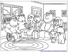 great family guy coloring pages for kids