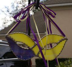 Mardi Gras Mask with Coordinating Ribbon Hanger