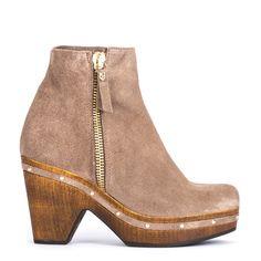 #zapatos #botín #plataforma de la nueva colección #AW de #pedromiralles en color #marrón #shoponline