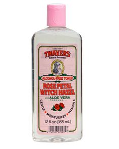 THAYERS - witch hazel with rose water (a must).
