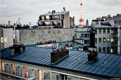 Having ice cream on the roofs in Paris (unforgettable moments)