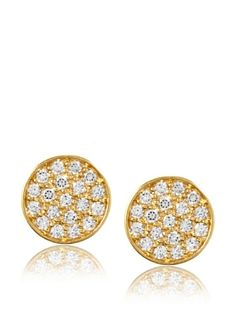 59% OFF Belargo Pavé Stud Earrings