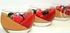Raspberry and nutella panna cotta No Bake Cake, Nutella, Panna Cotta, Cake Recipes, Raspberry, Candy, Baking, Ethnic Recipes, Desserts