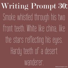 Writing Prompt Thirty --- Get your name out there! --- Now accepting submissions…