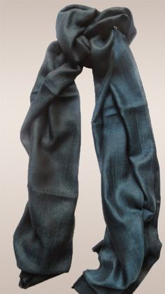 Double sided blue black Pashmina scarves suits each outfit.
