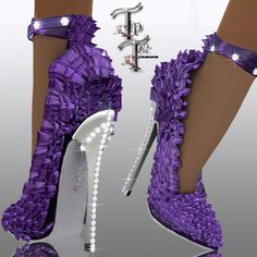 Purple shoes...now these are absolutely to die for!!! But, I can't do 3 1/2 inches, 3 yes!