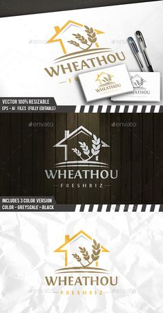 Grow House Logo by BossTwinsArt Package Professional Design Vector 100 resizable. You can change text and colors very easy using the named and organized layers t