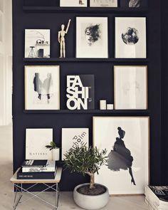 Que tal dar um uso aquele canto que está sobrando na sua casa? #scandinavian #quadros #decoracao #decorhome // via pinterest
