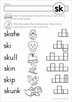 SK beginning blend worksheet.