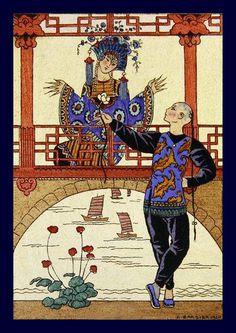George Barbier (1882-1932) - French Art Deco Fashion Illustrator - illustration