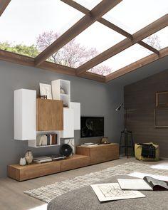 Design Wohnzimmermöbel Aus Massivholz. Auf Dem Bild Ist Eine Wohnwand Von  FGF Mobil Zu Sehen