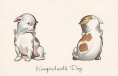 Kewpie tattoos are cute, but I've never seen a kewpie dog!  Would be a good tattoo for a traditional pet memorial.
