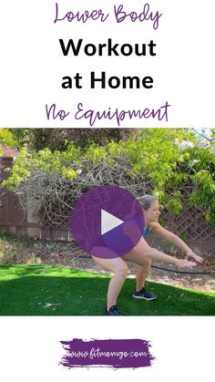 Lower Body Workout at home no equipment. Try this workout to get a great sweat in a short amount of time from home. Super convenient and effective! #workoutvideo #fatburning #fatburningworkout #legworkout