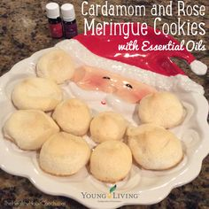 Cardamom-Rose Meringues with Essential Oils - http://www ...