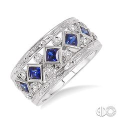 blue sapphire fashion ring! september birthstone $2345.00