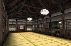 dojo can be found on Japan Chubu, within castle grounds Japanese Castle, Japanese House, Japanese Architecture, Historical Architecture, Hombu Dojo, Karate Dojo, Japanese Dojo, Japanese Lifestyle, Gym Room