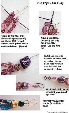 How to Make End Caps Using Jewelry Wire - WigJig Jewelry Making University  #Wire #Jewelry #Tutorials