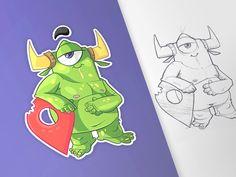 Monsters Pin by spovv #Design Popular #Dribbble #shots