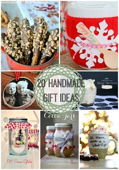 20 Last Minute Handmade Gift Ideas {Link Party Features} I Heart Nap Time   I Heart Nap Time - Easy recipes, DIY crafts, Homemaking