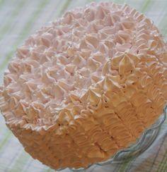 Vanilla ruffle-cake