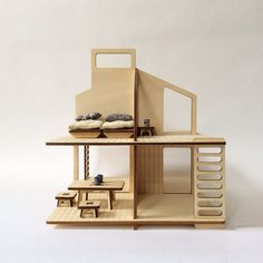 Wooden doll's house and its furniture via #Appurt http://www.appurt.com
