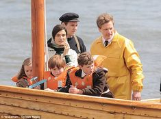 Hitting the waves: Rachel Weisz and Colin Firth shoot scenes for their new movie, the as y...