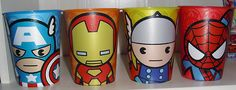 chibi marvel cups - Want!