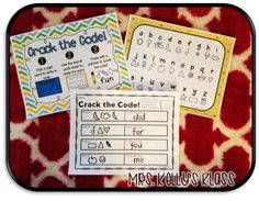 FUN ways to practice any words ALL year long.  Your kids will LOVE writing their words in code and having a friend crack it!