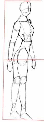 how to draw manga characters slightly to the side