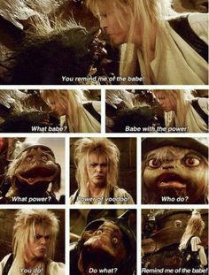 Labyrinth- My mother, sister and I quote this ALL the time XD