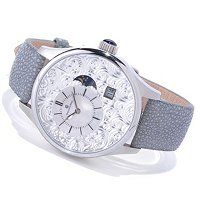 Constantin Weisz Men's Automatic Mother-of-Pearl Dial Stingray Strap Watch ShopNBC.com