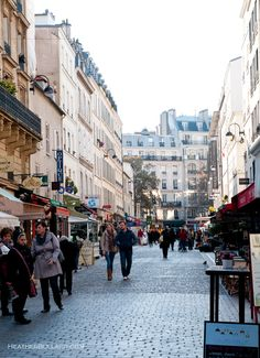 The Sunday market on Rue Cler, Paris