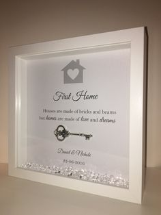 Handmade Personalised Box Frame New Home or by BespokeFramesUK