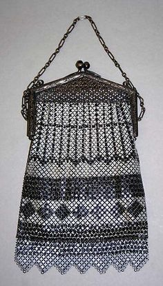 Purse - Date: 1920s - Culture: American or European - Medium: steel - Dimensions: Overall: 4 x 5 1/2in. Z