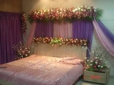 1000 images about bedroom decor for first night on for Asian wedding bed decoration ideas