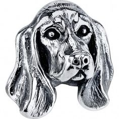 #BassetHound - Bark Bead $79.95 925 Sterling Silver, Compatible with Trollbeads, Pandora, and Chamilia bracelets, Hand-crafted in the USA, Available at ANDREW GALLAGHER JEWELERS, Newark, DE 302-368-3380