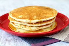 Eggless Pancakes. I made these when i had a very short time before class and no eggs. seriously delicious!