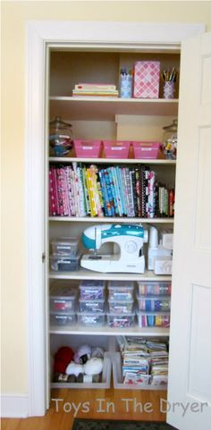 It didn't take much time or money to repurpose this closet into an organized craft space. Check out the show and tell.