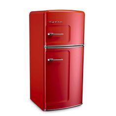 Cherry Red Retro Refrigerator by Big Chill