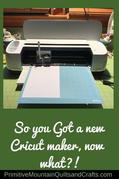 Well you finally got it! Maybe you've been wanting it for a long time or someone decided for you, but now you have a New Cricut Maker, Now What? Cricut Htv, Cricut Cards, Spring Projects, Diy Projects, Primitive Fall Decorating, Cricut Christmas Ideas, Engraving Tools, Vinyl Signs, Now What