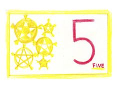 Waldorf ~ 1st grade ~ Math ~ Numbers: Five ~ main lesson book