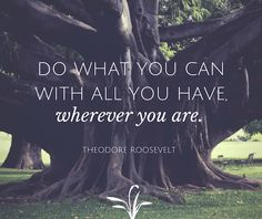 """""""Do What You Can With All You Have, Wherever You Are.""""- Theodore Roosevelt #motivation #motivational #quotes"""