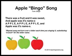 Apple Bingo Song